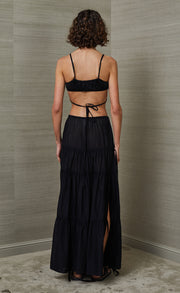 CARMEN MAXI SKIRT - BLACK