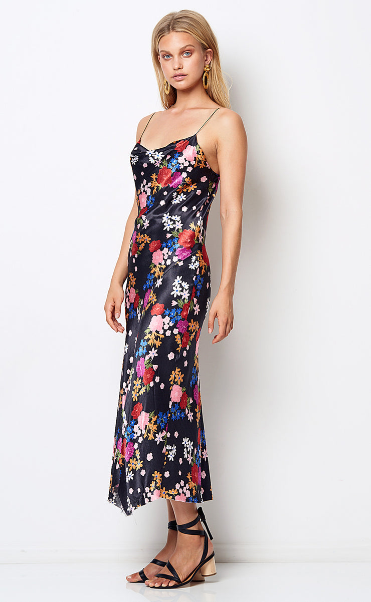 CHA CHA MIDI DRESS - BOUQUET PRINT