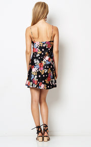 CHA CHA MINI DRESS - BOUQUET PRINT