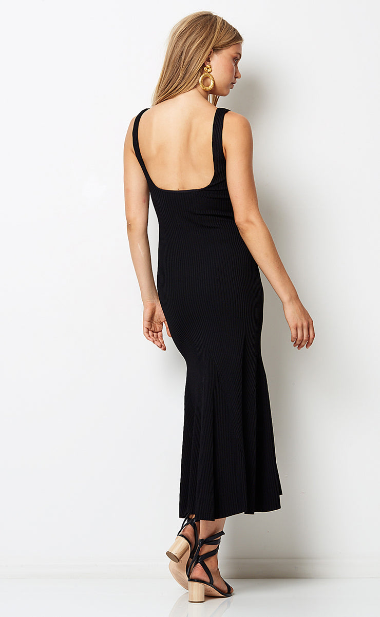 LA BAMBA MIDI DRESS - BLACK
