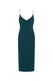 TASHA MIDI DRESS - EMERALD
