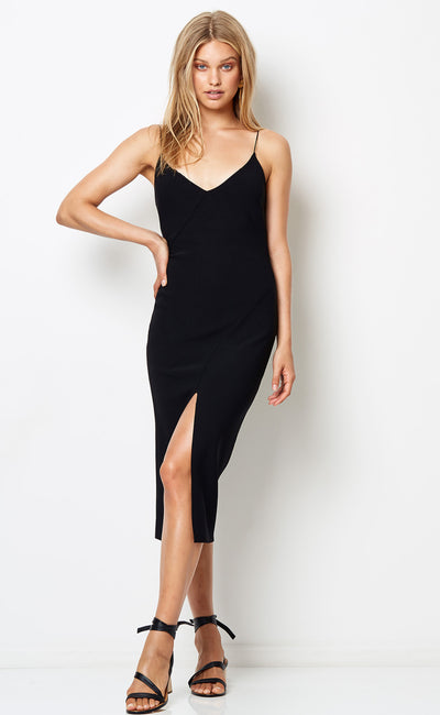 TASHA MIDI DRESS - BLACK