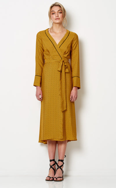 SUN VALLEY L/S DRESS - SPOT PRINT