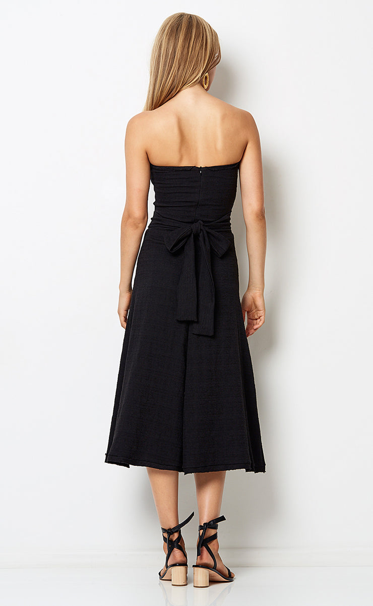 CATALINA AVE MIDI DRESS - BLACK