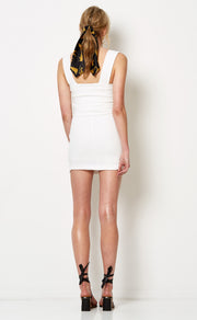 CATALINA AVE MINI DRESS - IVORY