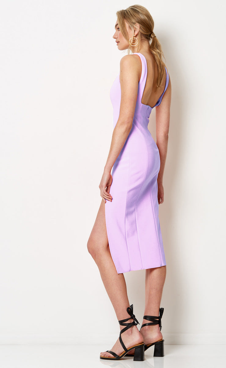 HIBISCUS ISLANDS MIDI DRESS - LILAC