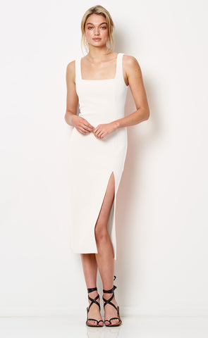 HIBISCUS ISLANDS MIDI DRESS - IVORY