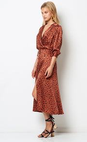 WILD CAT MIDI DRESS - ANIMAL PRINT