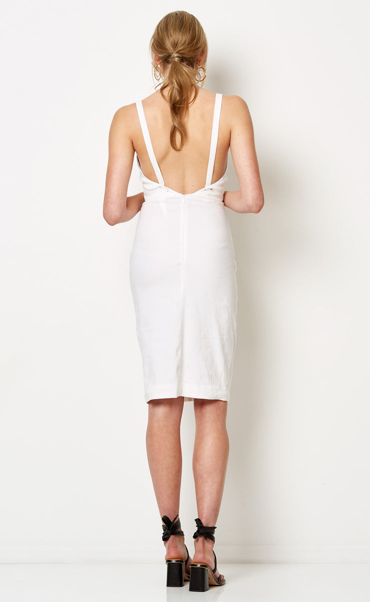 SOUTH BEACH MIDI DRESS - IVORY