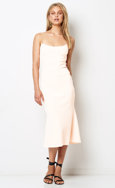 TE AMO SCOOP MIDI DRESS - IVORY