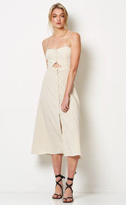 PALOMA MIDI DRESS - NATURAL