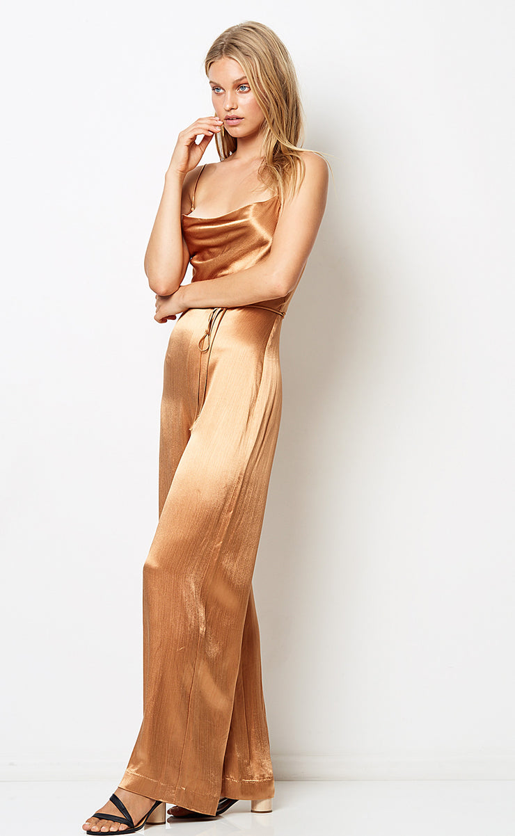 FEEL THE HEAT JUMPSUIT - CINNAMON