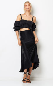 HIBISCUS ISLANDS SKIRT - BLACK