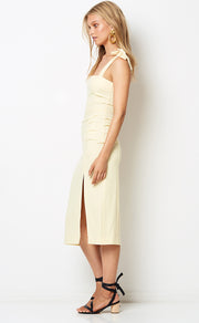 BONITA TIE DRESS - BUTTER