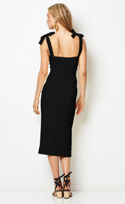 BONITA TIE DRESS - BLACK