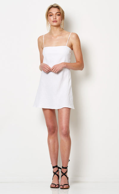 HAVANA NIGHTS MINI DRESS - WHITE