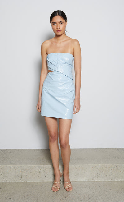 FINN MINI DRESS - POWDER BLUE