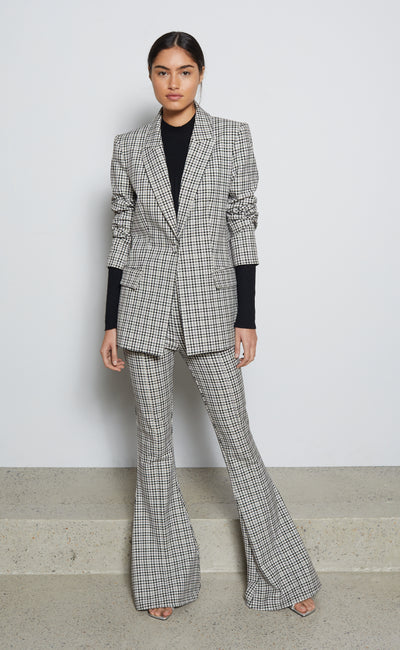 GINGHAM GIRL BLAZER - CHECK