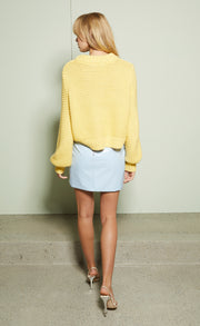 FINN MINI SKIRT - POWDER BLUE