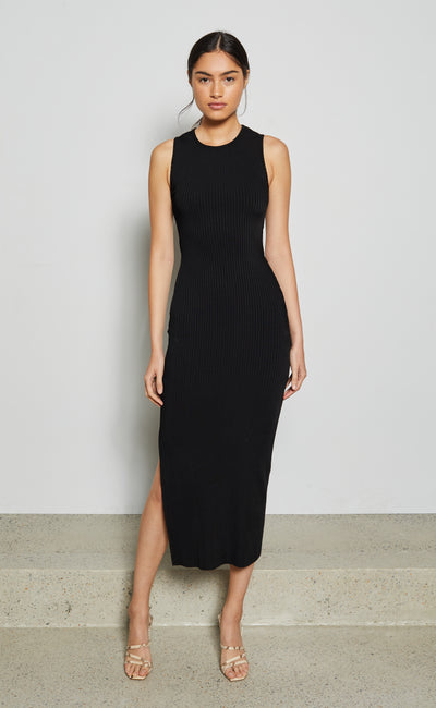 DANIKA MIDI DRESS - BLACK