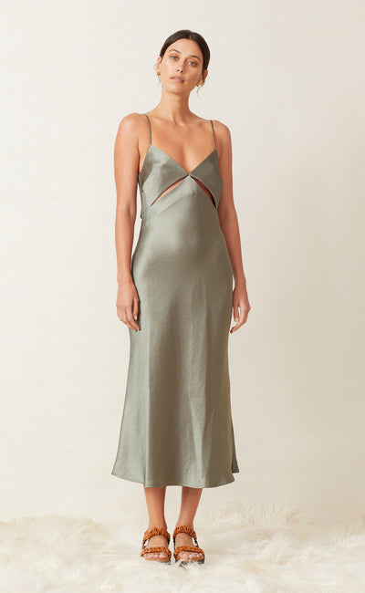 MILA MIDI DRESS - KHAKI