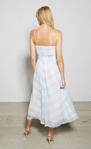 ALEXA MIDI DRESS - BLUE CHECK