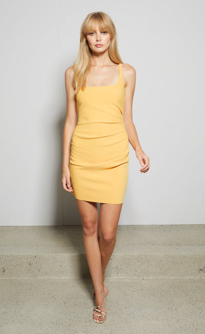 KARINA MINI DRESS - TANGERINE