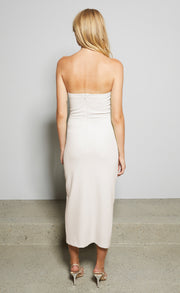 SOFIE STRAPLESS DRESS - HIMALAYAN SALT