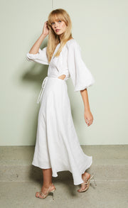 LOTTIE MIDI DRESS - IVORY