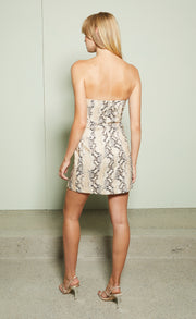 FRANCO MINI DRESS - SNAKE SKIN PRINT