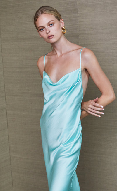 AGATHA MIDI DRESS - COOL MINT
