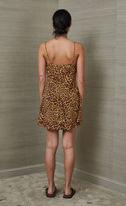 LIONS DEN SILK MINI DRESS - PRINT