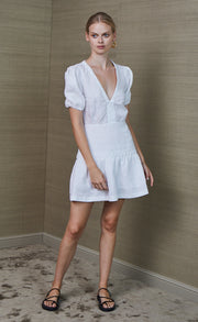 HATTIE MINI DRESS - IVORY