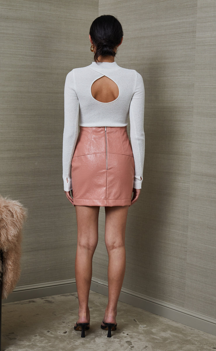 WONDER LOVE MINI SKIRT - DUSTY ROSE