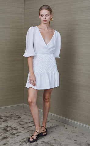 AVERY MINI DRESS - IVORY