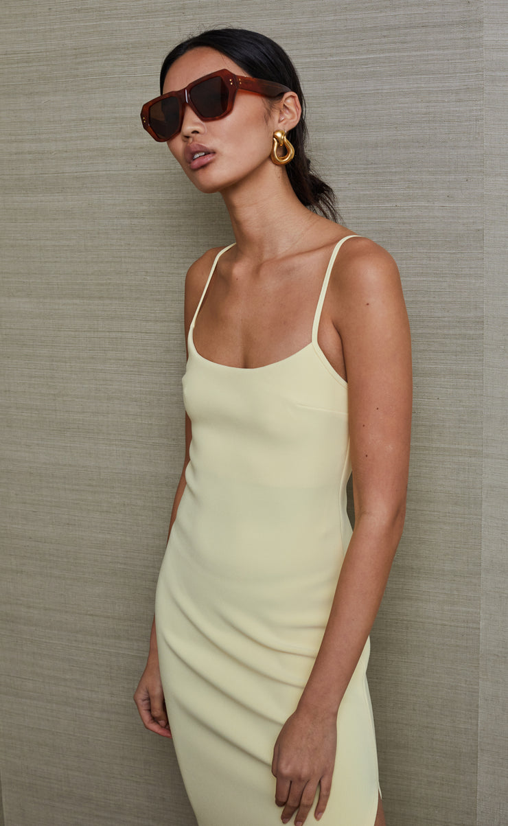 SCOUT MIDI DRESS - LEMONADE