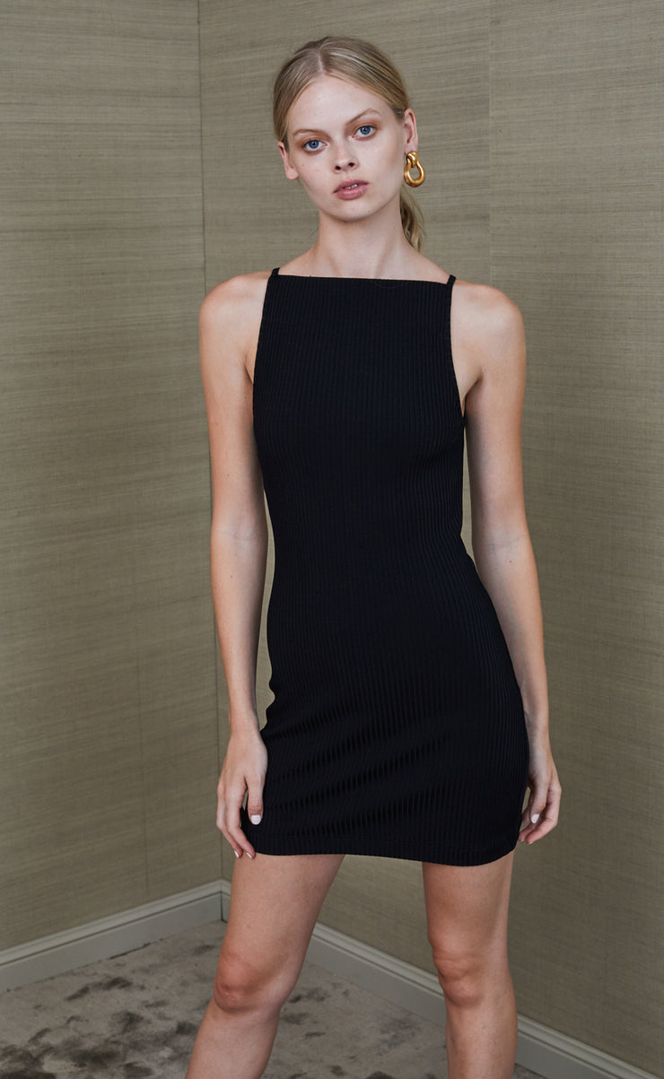 ZINNIA MINI DRESS - BLACK