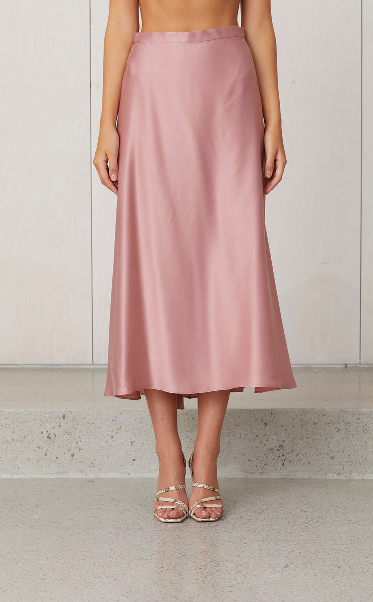 CLASSIC CIRCLE SKIRT - ROSEWATER