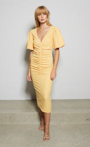 SADIE MIDI DRESS - SHERBET