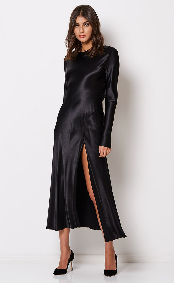 KAIA L/S DRESS - BLACK
