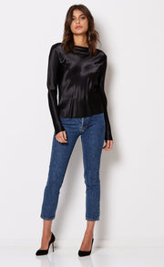 KAIA L/S TOP - BLACK