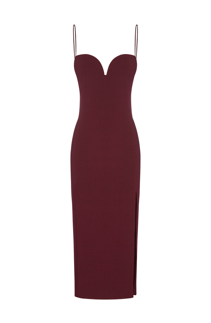 DREAMGIRL SWEETHEART DRESS  - WINE