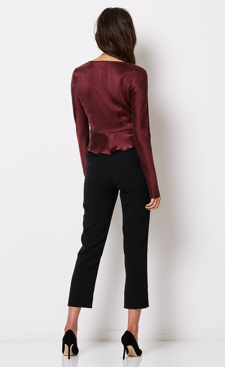 LINDA L/S TOP - PLUM