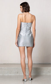 LADY SPARKLE MINI DRESS - METALLIC