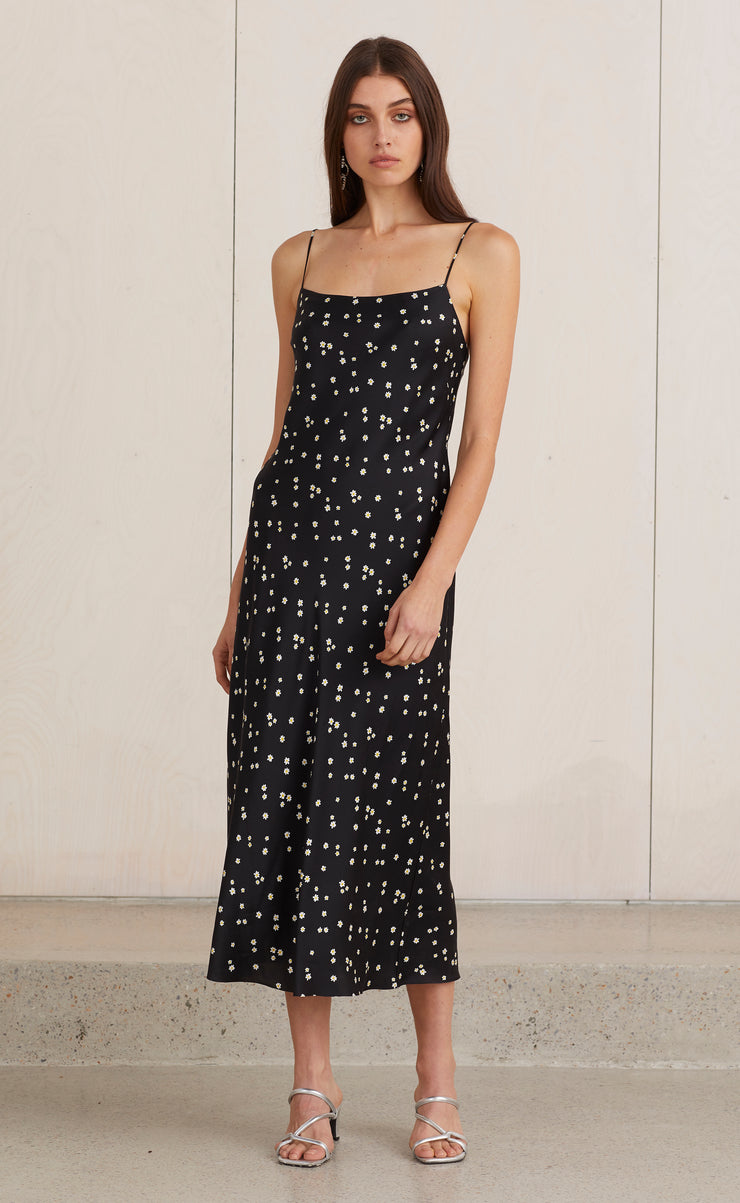 MISS DAISY SLIP MIDI DRESS - DAISY FLORAL