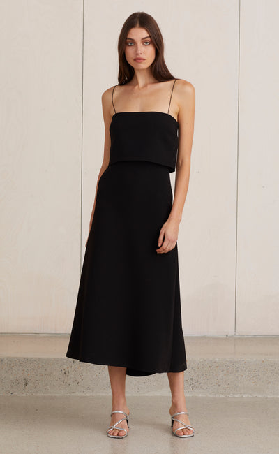ARAIA MIDI DRESS - BLACK