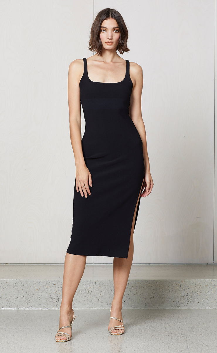 VALENTINE MIDI DRESS - BLACK