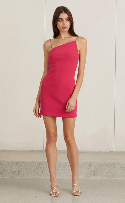 VALENTINE MINI DRESS - HOT PINK
