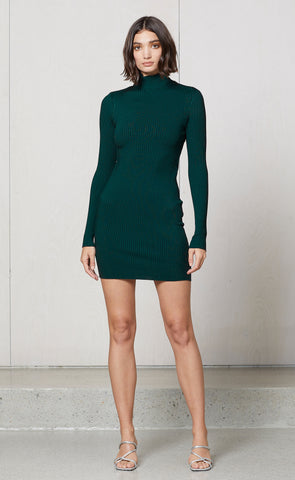 DARK INSTINCT MINI DRESS - EMERALD