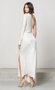 THE KAT ASYM MIDI DRESS - SAND